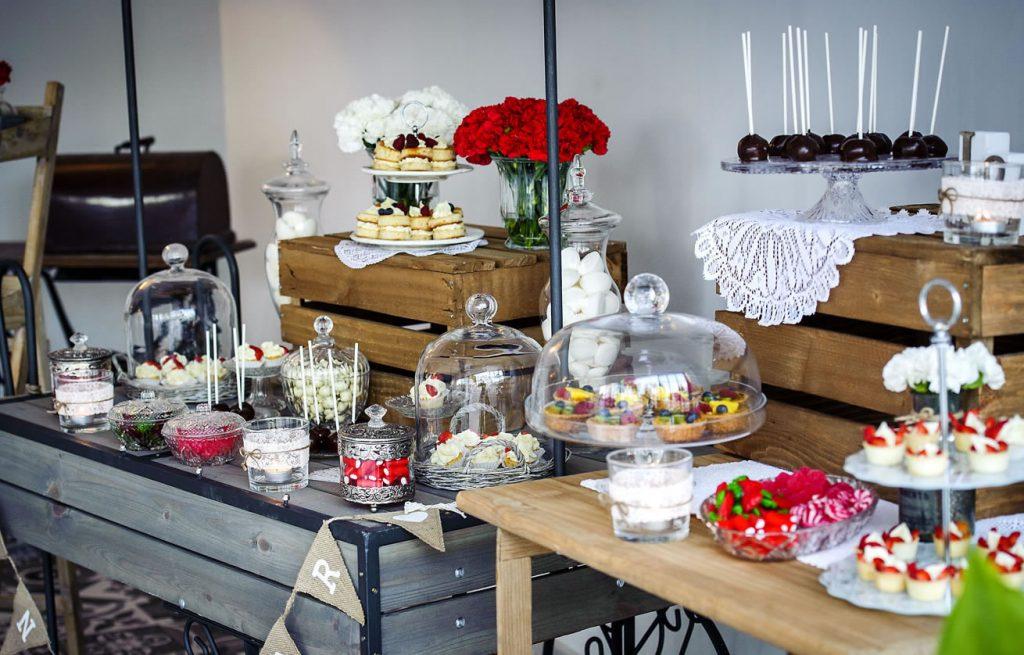 Mesa de dulces en Villa Ramona