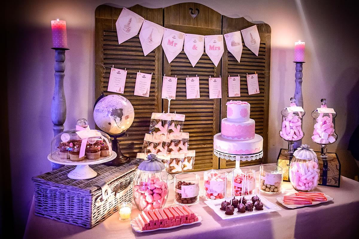 Mesas de dulces en finca la torreta fincas para bodas for Mesa de dulces para boda
